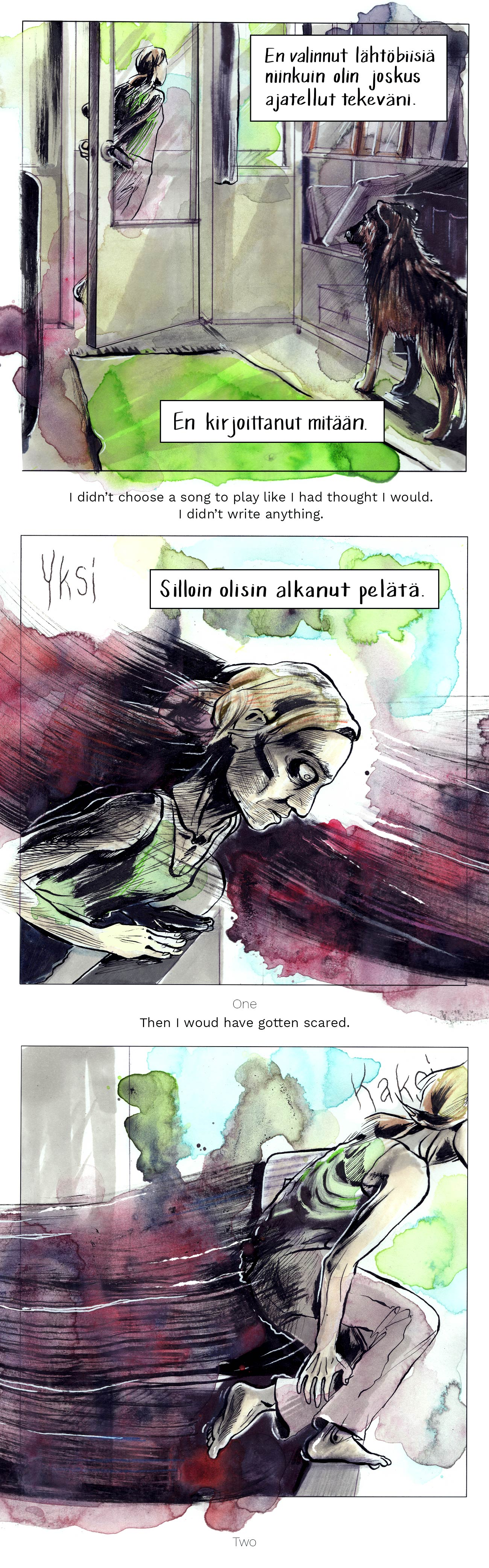 Sarjakuva syömishäiriön ja masennuksen tuskasta, itsemurhasta ja elämästä. A webcomic about the pain of eating disorders and depression, suicide and life itself.